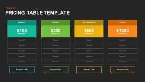 Pricing Table PowerPoint Template and Keynote Slide