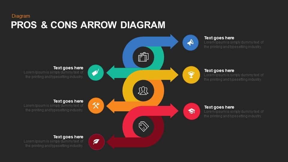 Pros & Cons Arrow Diagram Keynote