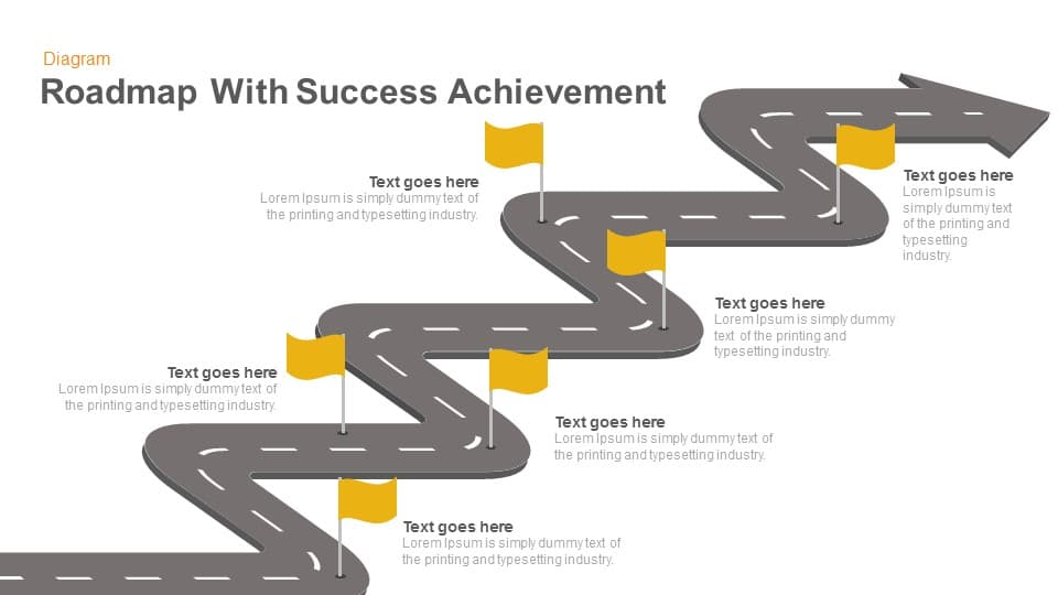 Success Achievement Roadmap PowerPoint Template and Keynote