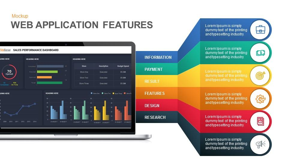dashboard mockup presentation template