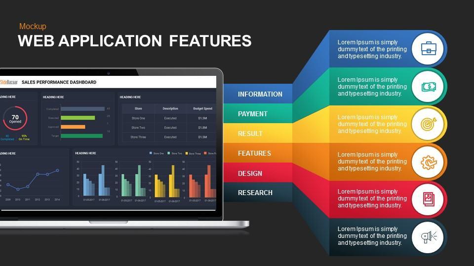 web application services mockup presentation template