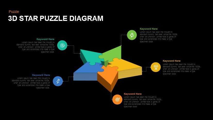 3D Star Puzzle Diagram