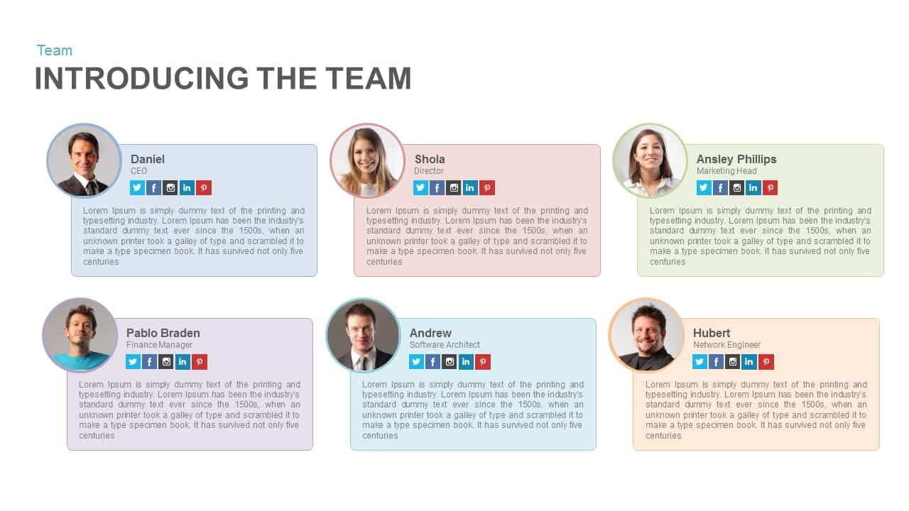 Introducing The Team Keynote Slide