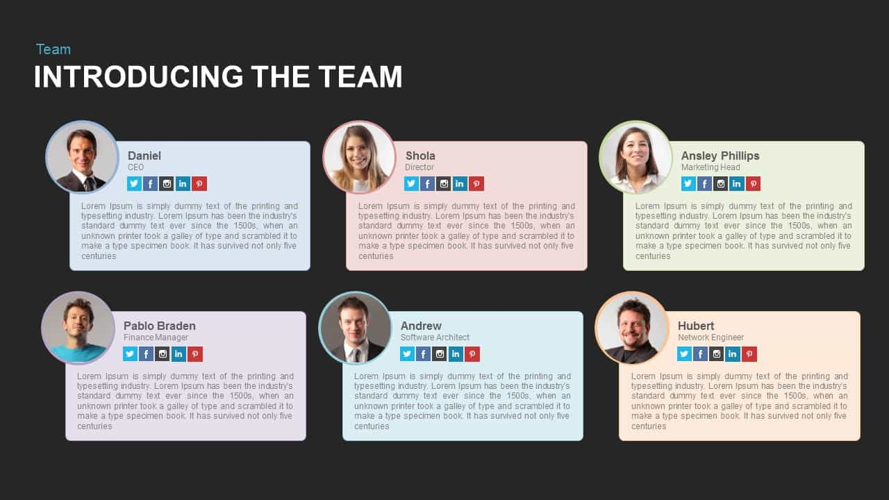 Team Introduction Powerpoint Template And Keynote Slide