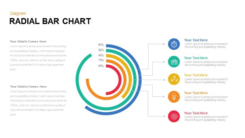 Radial Bar Chart Powerpoint Templates