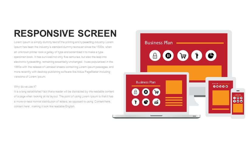 Responsive Screen Metaphor PowerPoint Template