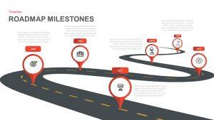 Milestone Roadmap PowerPoint Template and Keynote Slide
