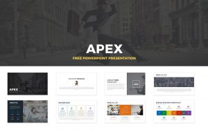 Apex Free PowerPoint Template and Keynote Slide