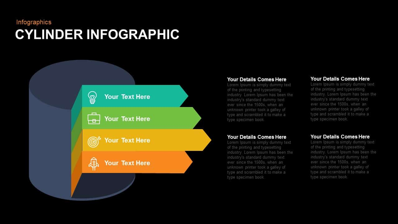 Cylinder Infographic Powerpoint