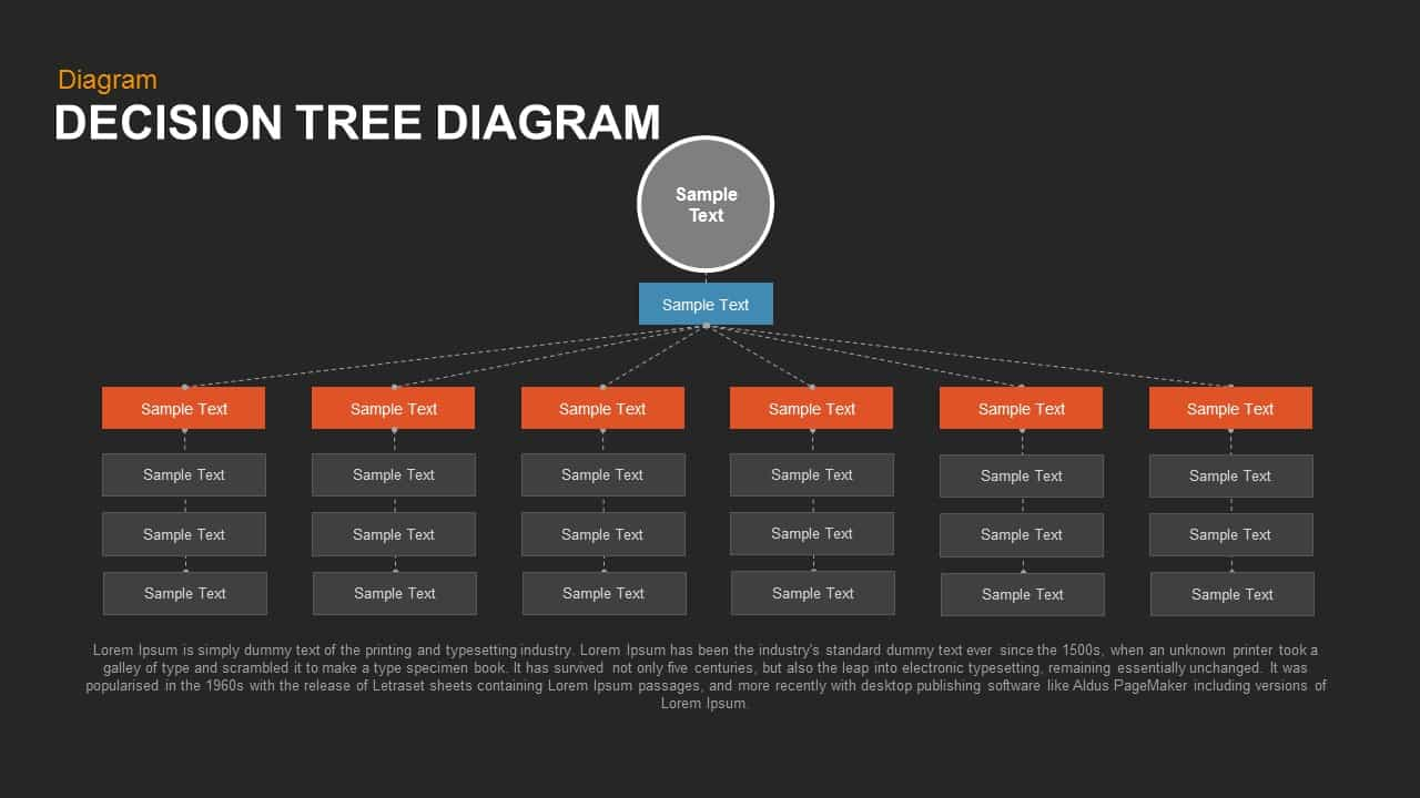 Decision Tree Diagram Powerpoint template