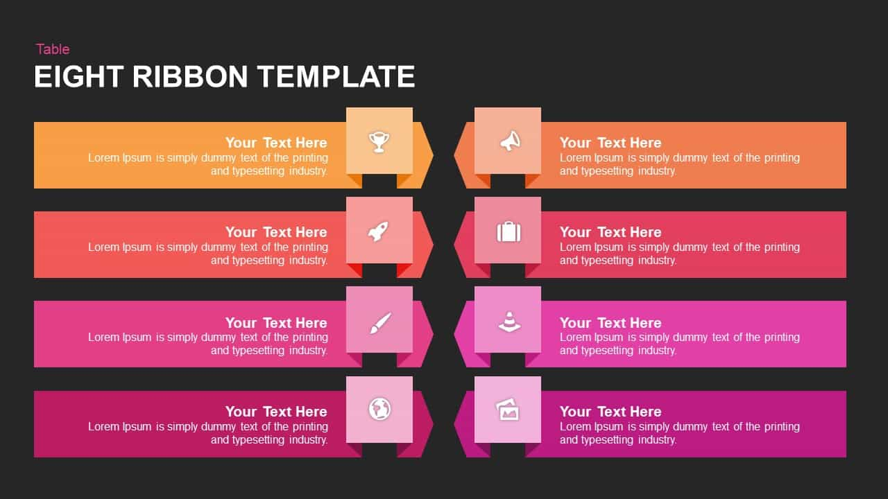 8 Ribbon PowerPoint Template