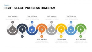 8 Stage Process Diagram PowerPoint Template and Keynote