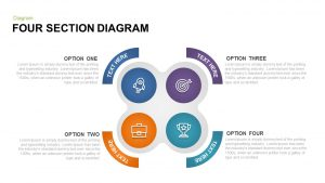 4 Section Diagram PowerPoint Template & Keynote