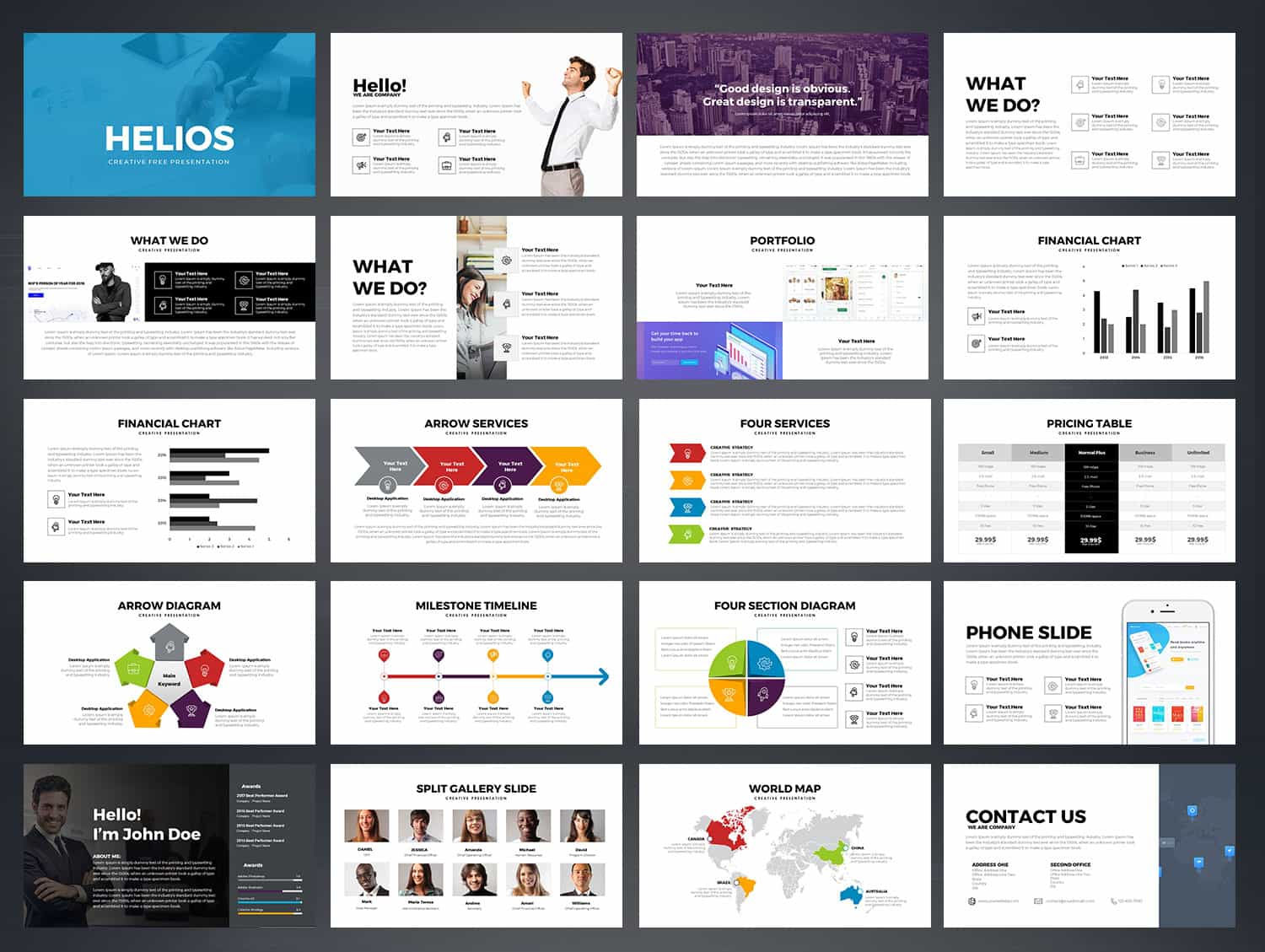 HELIOS Free Powerpoint Template-Free