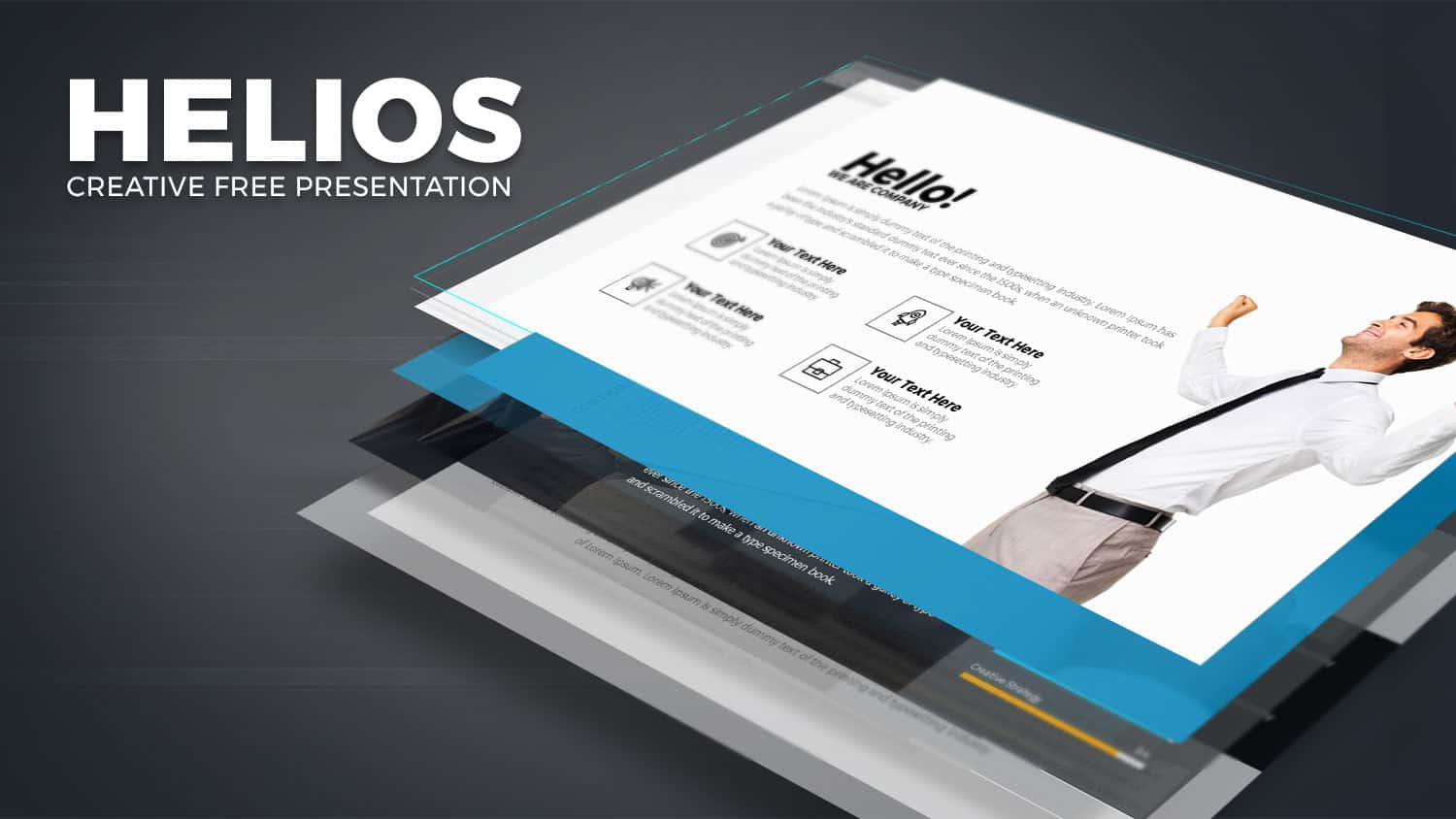 Free PowerPoint Template HELIOS