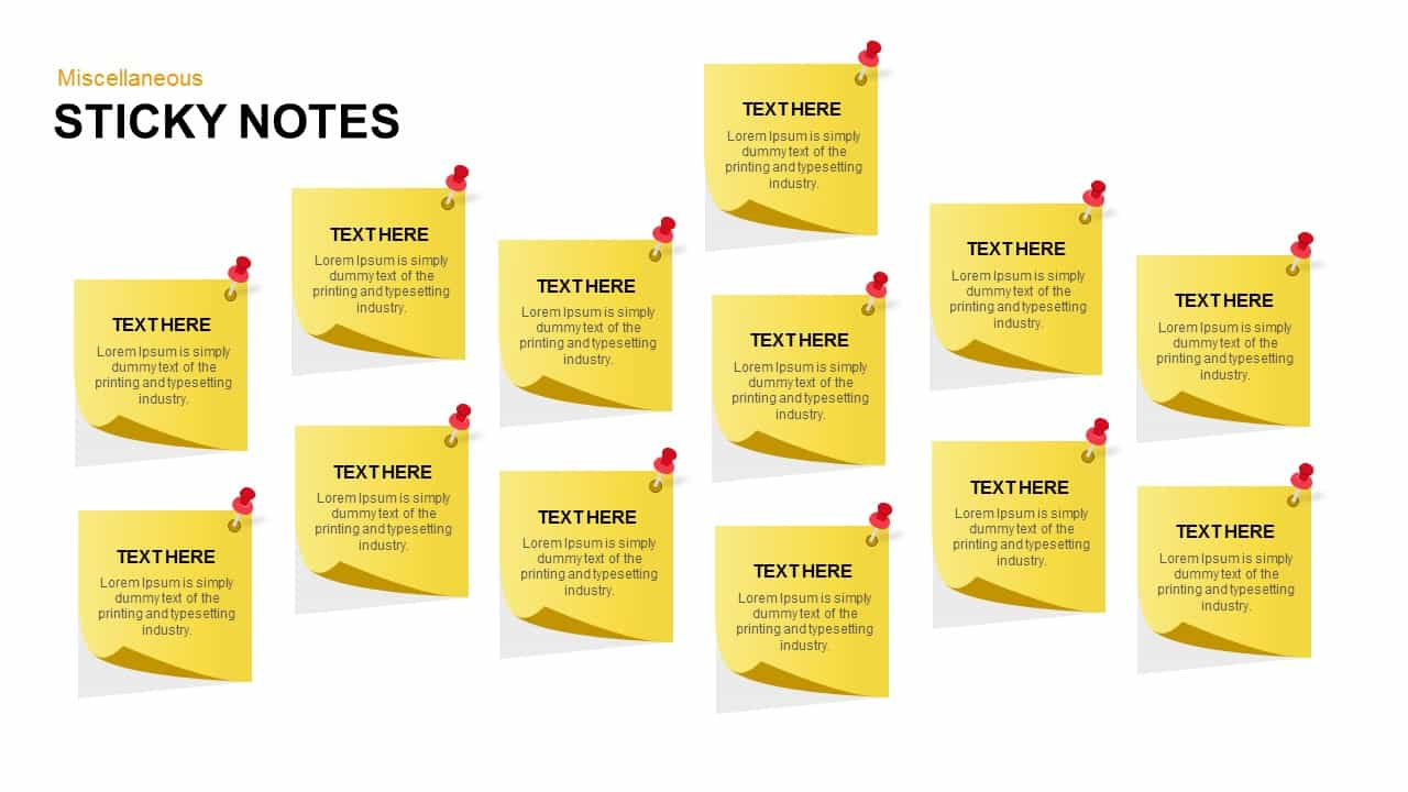 Post It Notes Keynote template