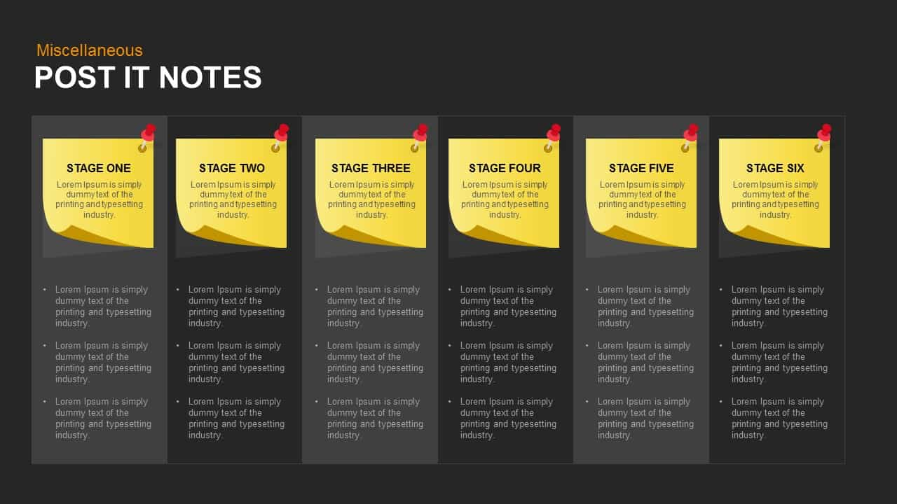 graphic relating to Editable Post It Note Template called Posting It Notes PowerPoint Template and Keynote Fall