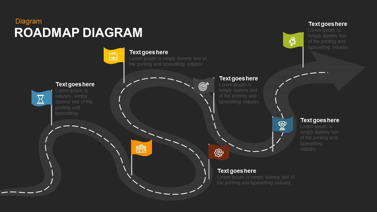 Roadmap Diagram Powerpoint template
