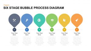 6 Stage Process Bubble Diagram PowerPoint Template and Keynote for Free