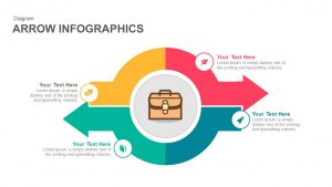 Infographics Arrow PowerPoint Template and Keynote