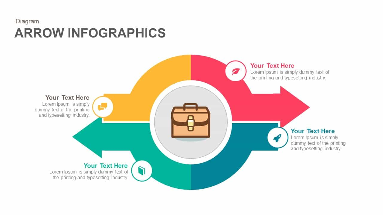 Infographics arrow PowerPoint template