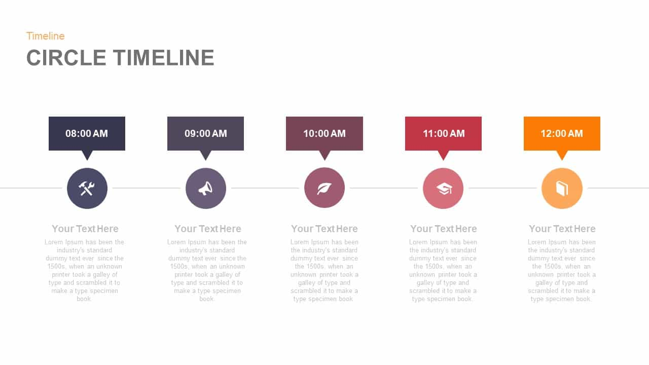 circle timeline PowerPoint template