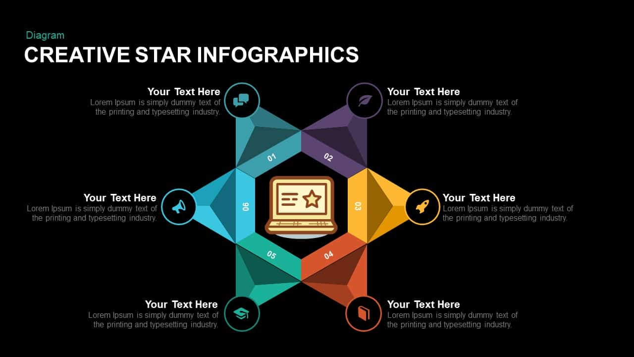Creative Star Infographics Powerpoint template