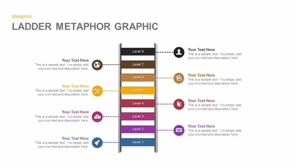 Ladder Metaphor Graphic PowerPoint Template and Keynote