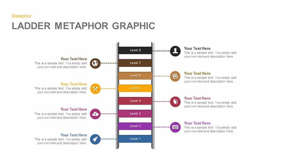 Ladder Metaphor Graphic Powerpoint Template And Keynote Slidebazaar