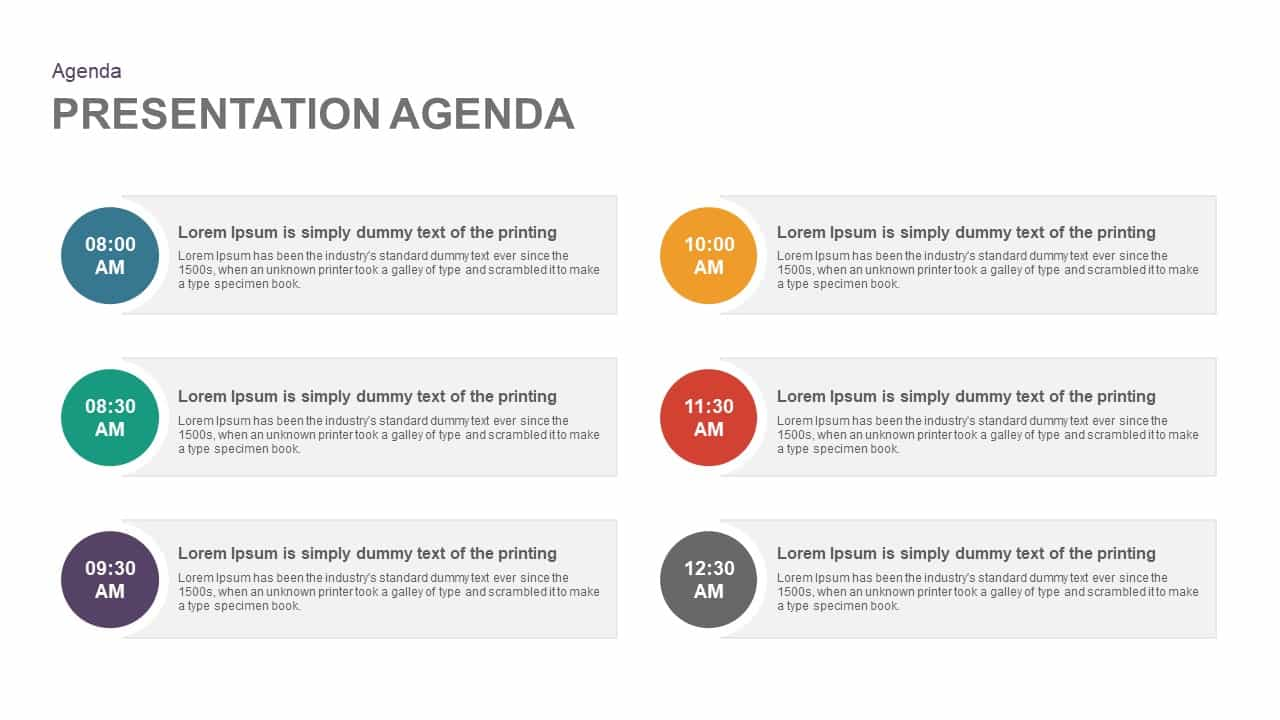 Agenda Template for PowerPoint Presentation