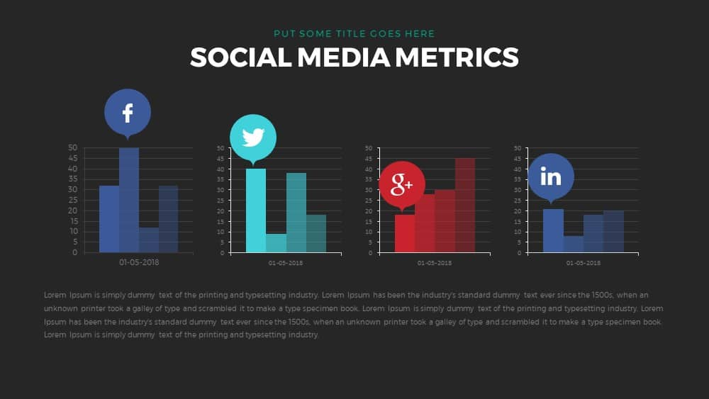 social media metrics powerpoint and keynote template