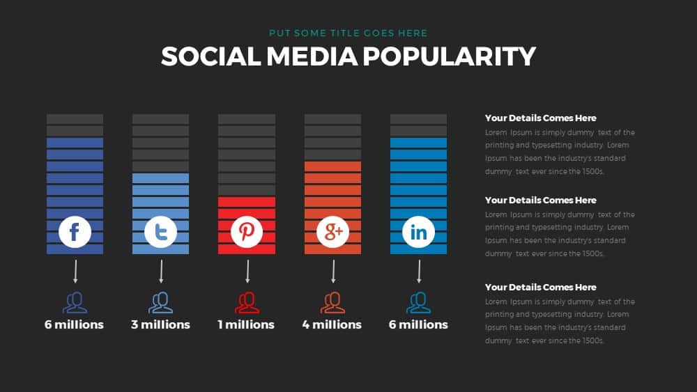 social media popularity powerpoint and keynote template