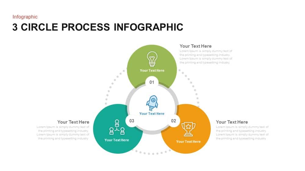 3 circle process PowerPoint template and keynote