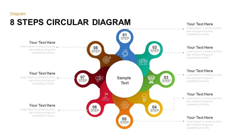 8 steps circular diagram powerpoint template and keynote slide Dance Diagram 8 step circular diagram powerpoint template and keynote