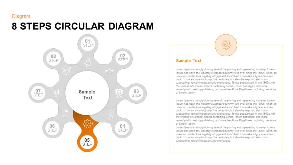 8 Steps Circular Diagram PowerPoint template