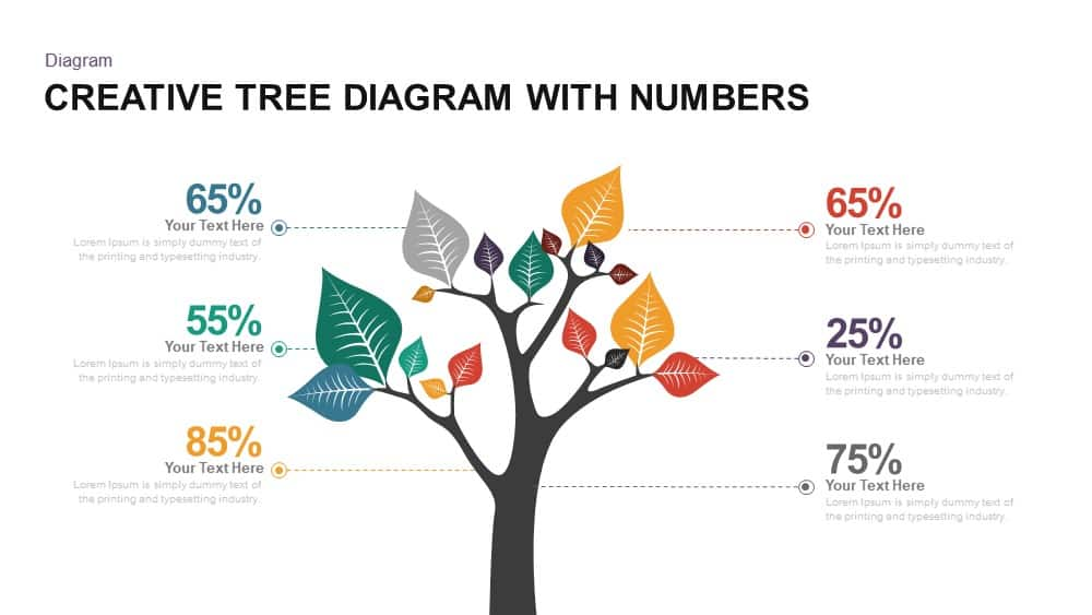 Creative tree diagram PowerPoint template and keynote