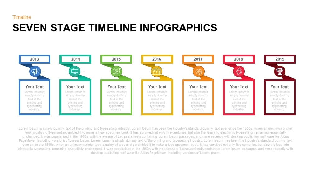 7 Stage Timeline Infographic PowerPoint Template and Keynote
