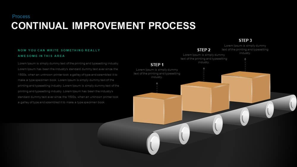 Continual Improvement Process PowerPoint template