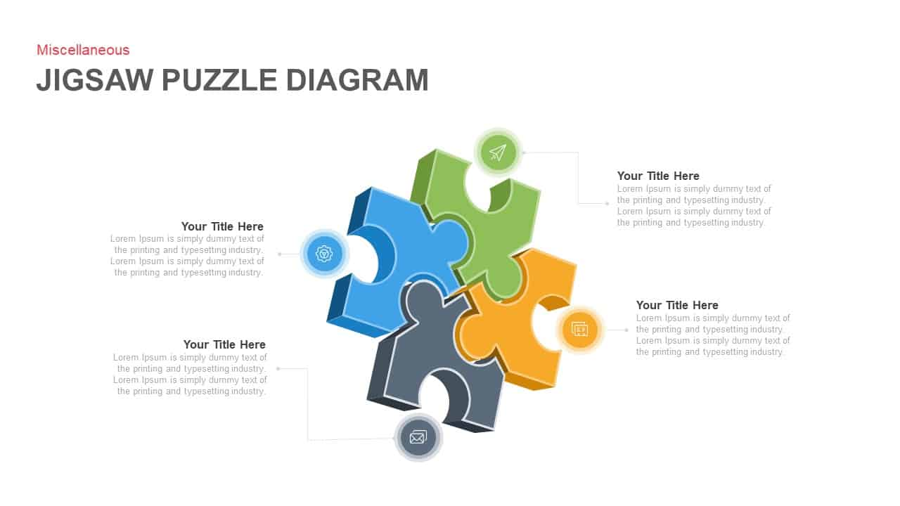 Jigsaw Puzzle Diagram Powerpoint Template And Keynote