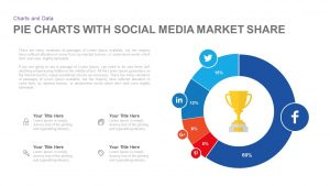 Pie Chart with Social Media Market Share PowerPoint and Keynote Template