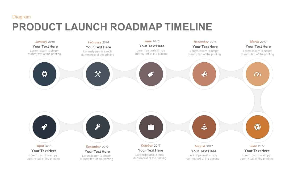 Product Launch Roadmap Timeline Point Template For