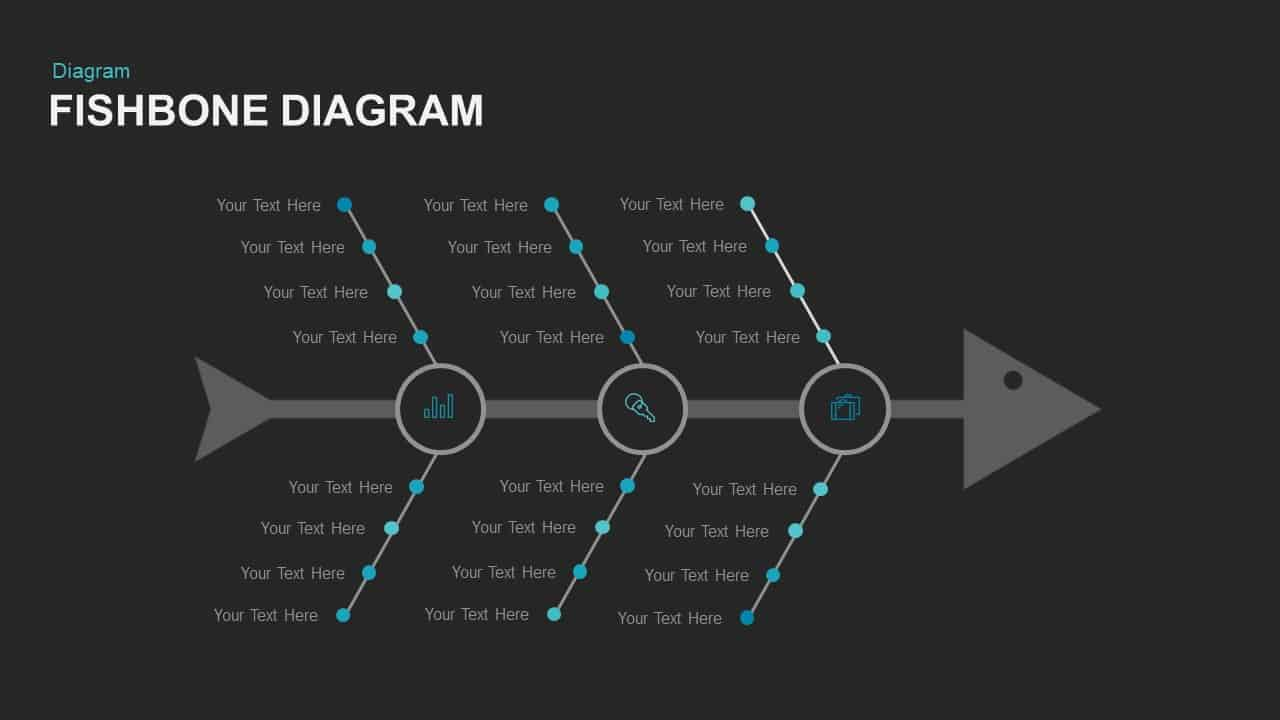 Fishbone Diagram Template for PowerPoint and Keynote Slide