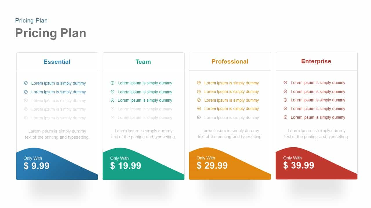 Pricing Plan Template for PowerPoint and Keynote