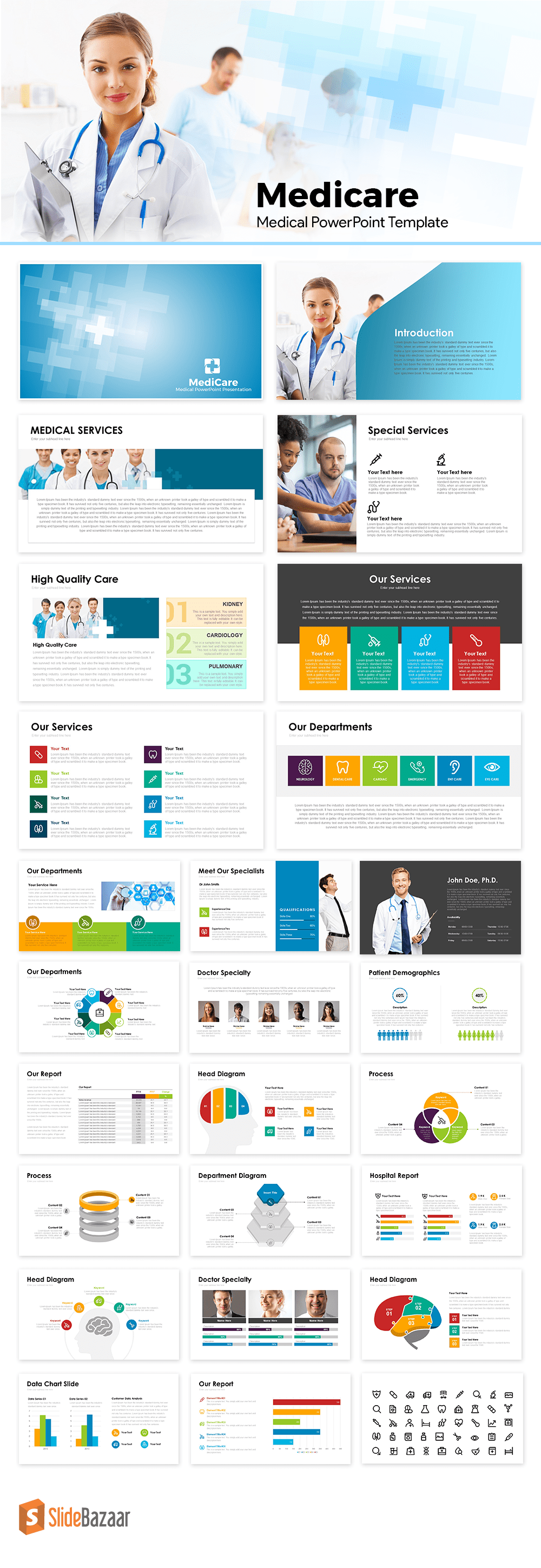 Medicare Medical PowerPoint Templates