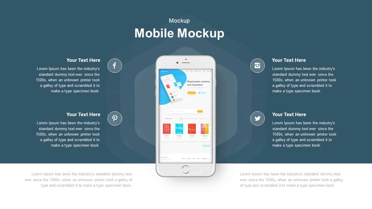 Mobile mockup PowerPoint template and keynote