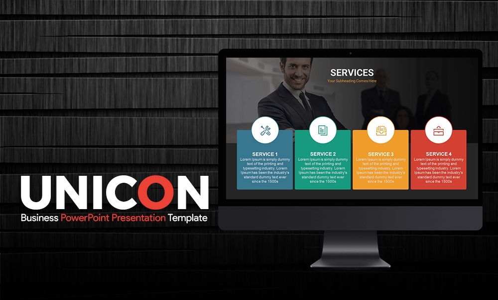 Unicon Business Presentation PowerPoint Template