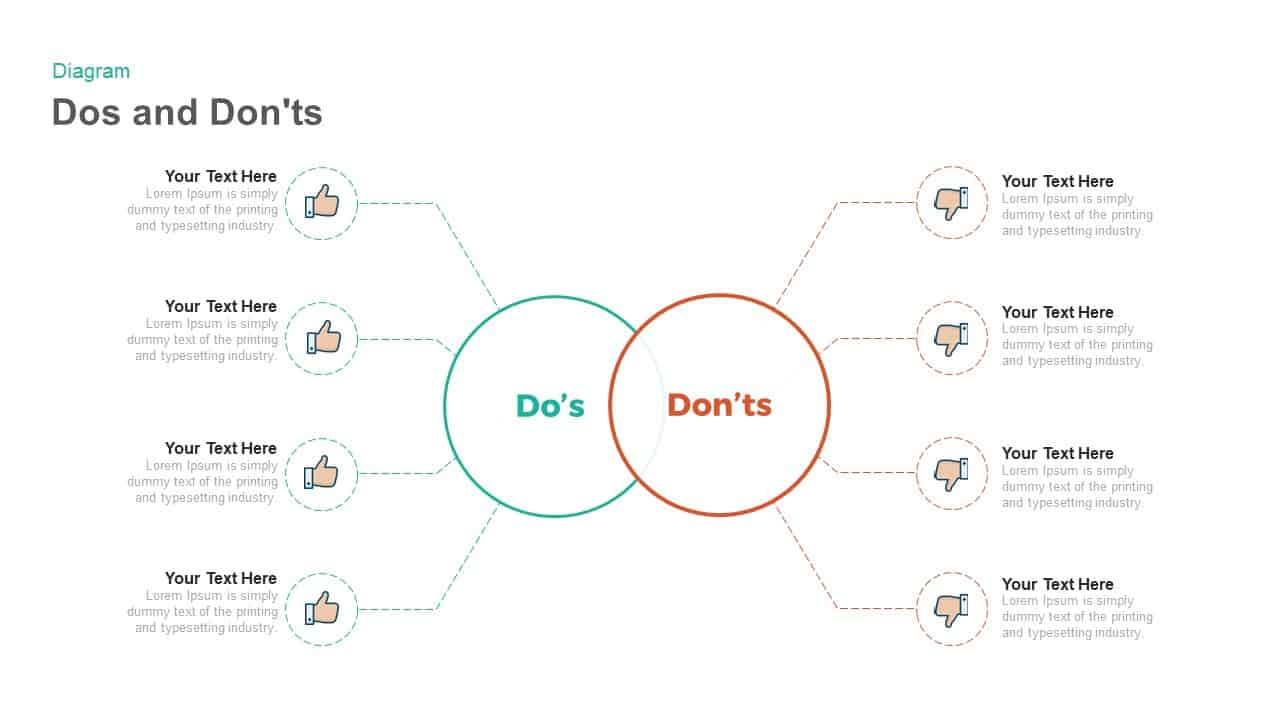 dos and don'ts PowerPoint template and keynote