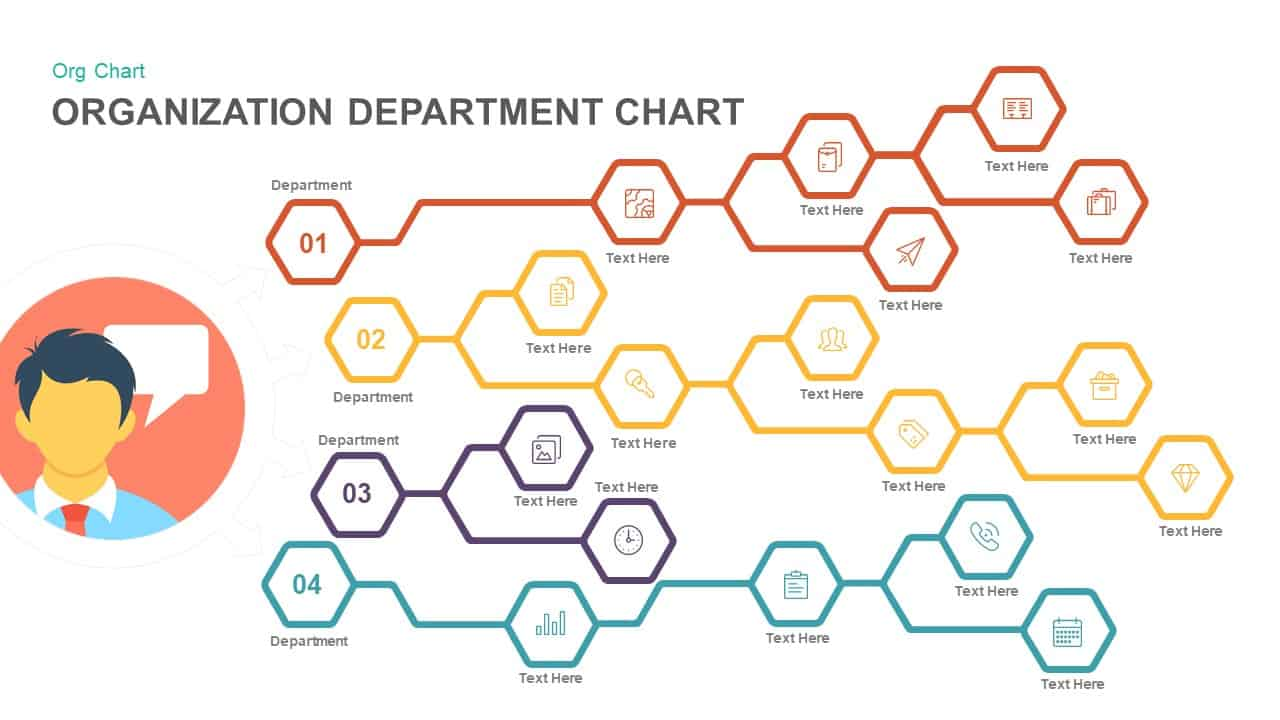 organization chart PowerPoint template with department