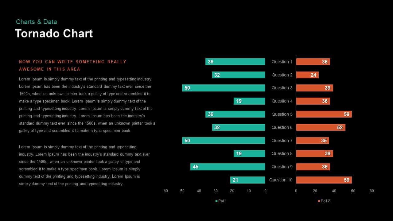 Tornado Chart PowerPoint template