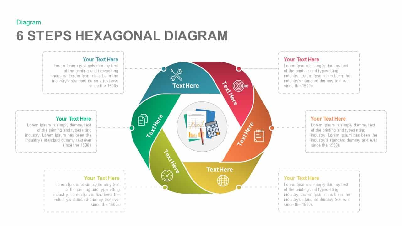 6 Steps Diagram Hexagon Powerpoint Template And Keynote Slidebzaar